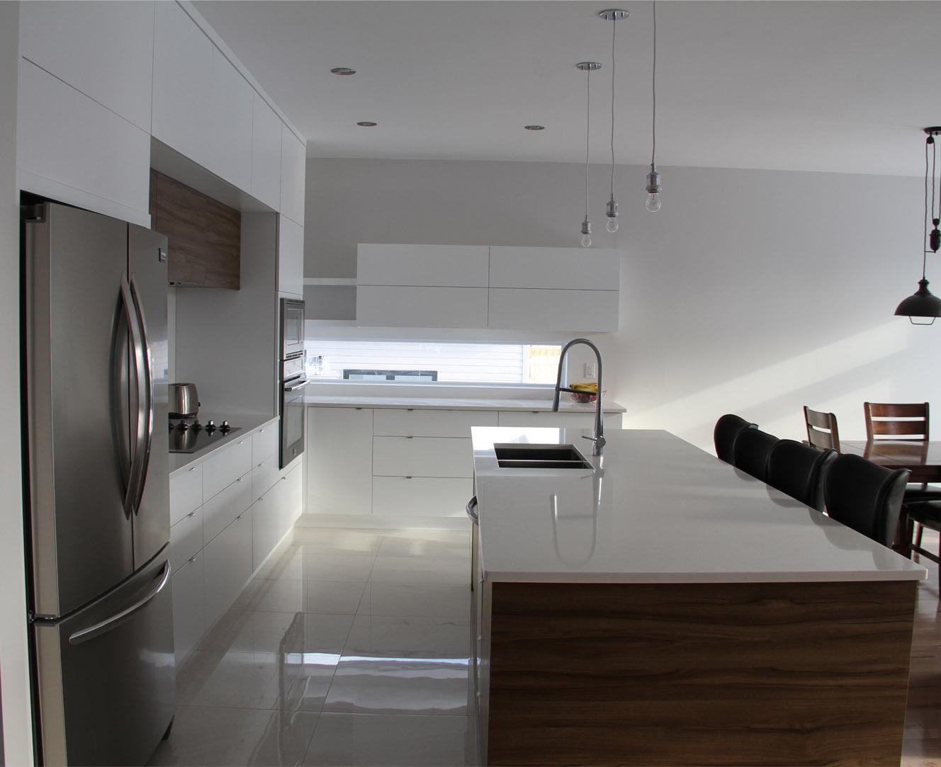 Armoires de cuisine thermoplastique blanc mat 5450