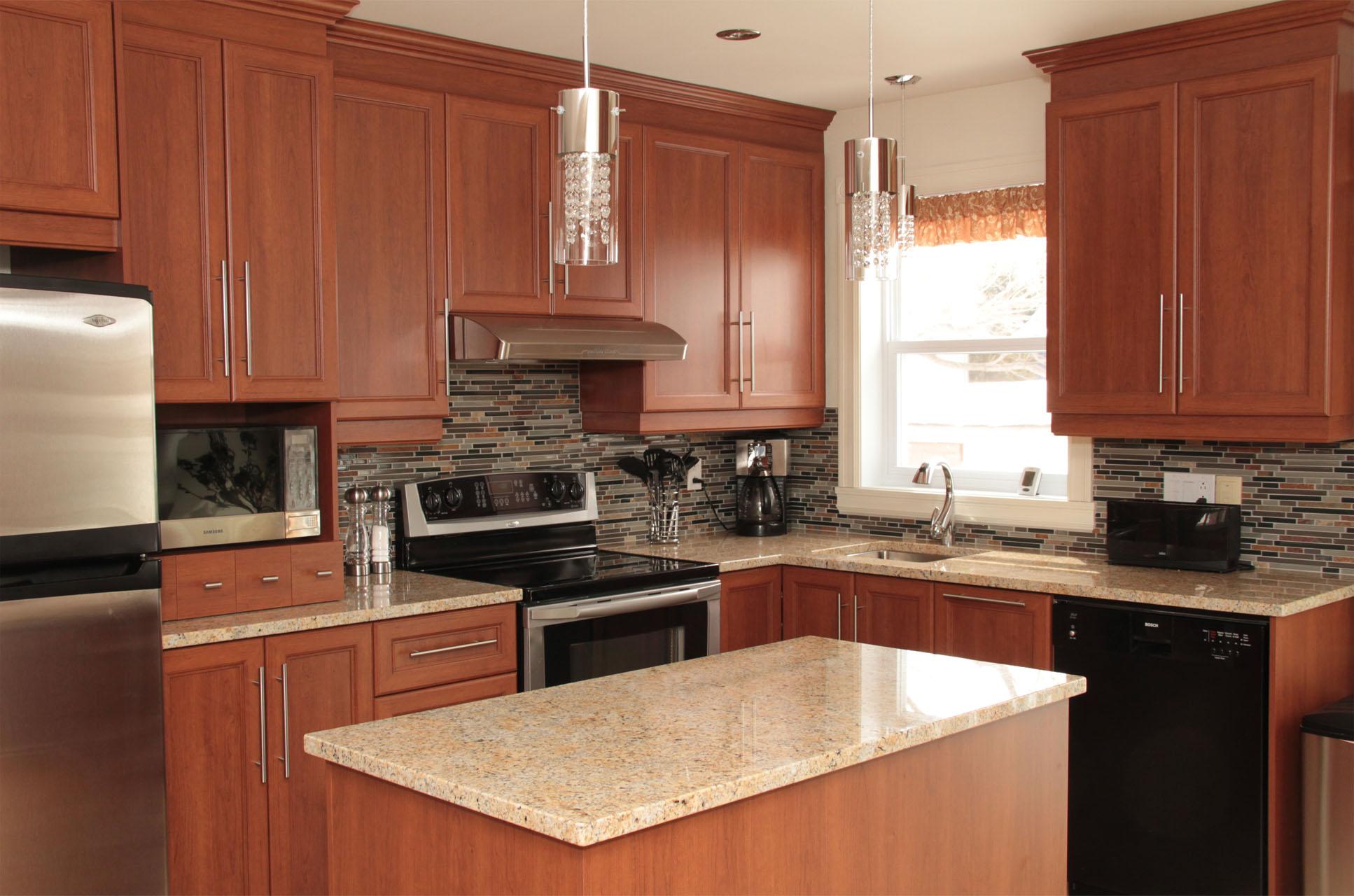 Cuisine mt armoires de cuisine de polyester for Armoires de cuisine en bois